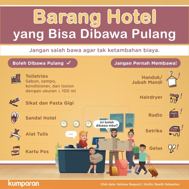 Barang Hotel yang Bisa Dibawa Pulang