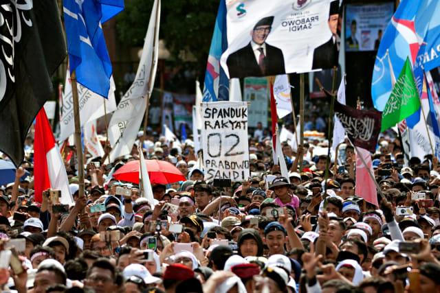 (NOT COVER) Kampanye Akbar, Calon Wakil Presiden nomor urut 02, Sandiaga Uno, Tangerang