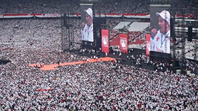 Kampanye Akbar, Konser Putih Bersatu, Pendukung