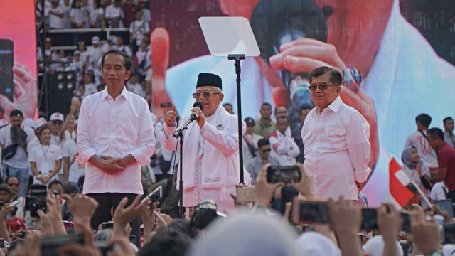 Kampanye Akbar, Konser Putih Bersatu, Calon Presiden nomor urut 01, Jokowi