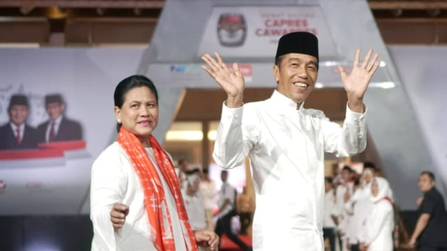 Debat Pilpres ke V, Pemilu 2019, Joko Widodo, tiba di lokasi Debat