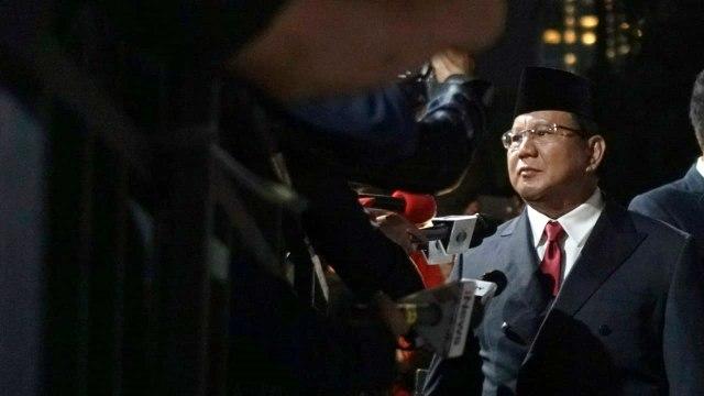 Debat Pilpres ke V, Pemilu 2019, Prabowo Subianto, tiba di lokasi Debat