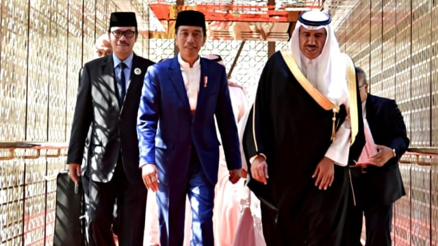 Presiden Joko Widodo tiba di Riyadh, Arab Saudi