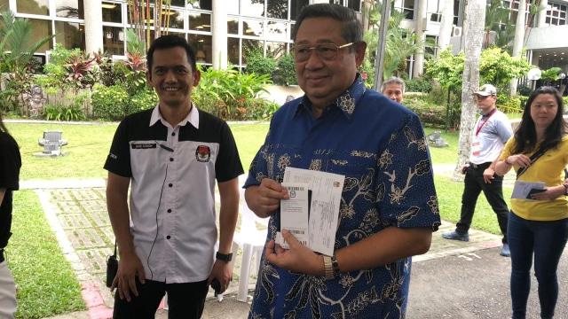 Susilo Bambang Yudhoyono,  Pemilu 2019 di Singapura.