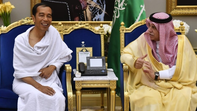 Presiden Jokowi Bertemu Putra Mahkota Arab Saudi Mohammed bin Salman