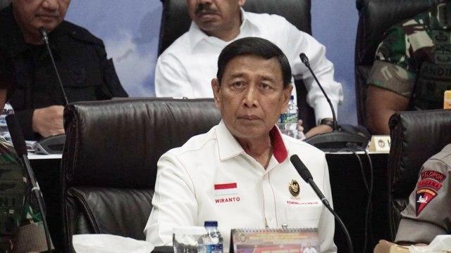 Video Conference, Menko Polhukam Wiranto, koordinasi kesiapan akhir dalam rangka pengamanan tahapan pemungutan dan perhitungan suara Pemilu 2019