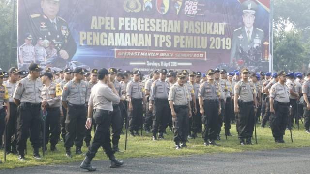 18.763 Personel TNI-Polri Disiagakan Jaga Keamanan Pemilu di Jatim (188907)