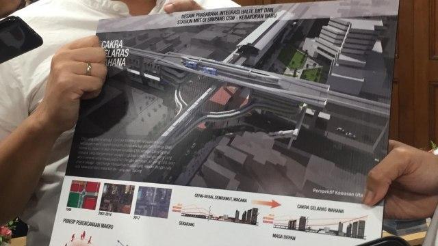 Desain Integrasi Halte Transjakarta CWS - Stasiun Asean MRT