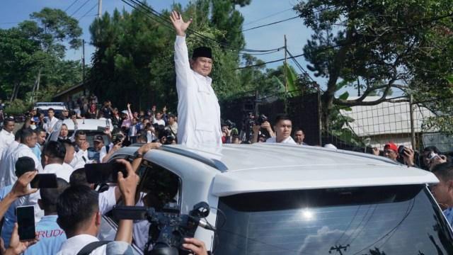 Capres nomor urut 02, Prabowo Subianto di TPS