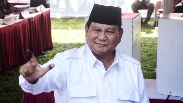 Prabowo Klaim Menang: Exit Poll 55,4%, Quick Count 52,2% (737169)