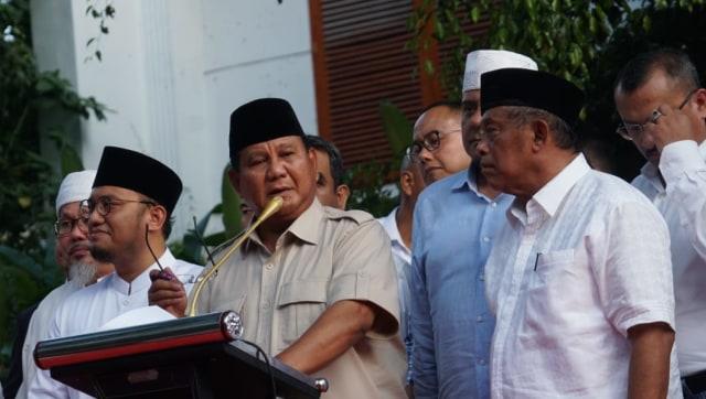 Prabowo Klaim Menang: Exit Poll 55,4%, Quick Count 52,2% (737170)