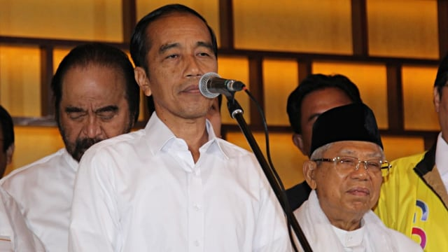 Calon Presiden nomor urut 01, Jokowi, Konpers, Quick Count