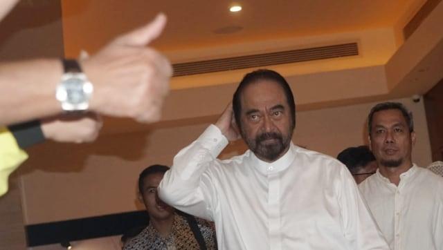 Ketua Umum Nasdem, Surya Paloh di Djakarta Theatre