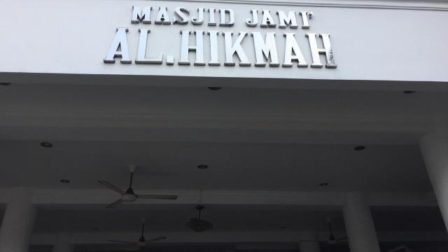 Masjid Al Hikmah di Lebak Bulus, Jakarta Selatan yang terkena aksi vandalisme pornografi