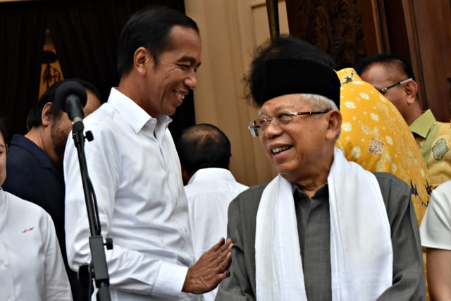 (NOT COVER) Paslon nomor urut 01, Jokowi Ma'ruf Amin, Konsolidasi, Koalisi