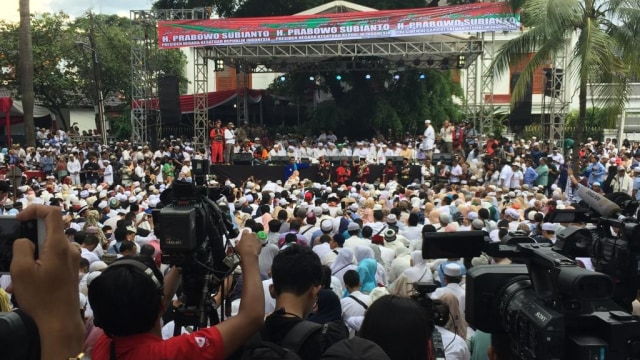 Dzikir dan Sholawat, acara syukuran kemenangan Prabowo-Sandi