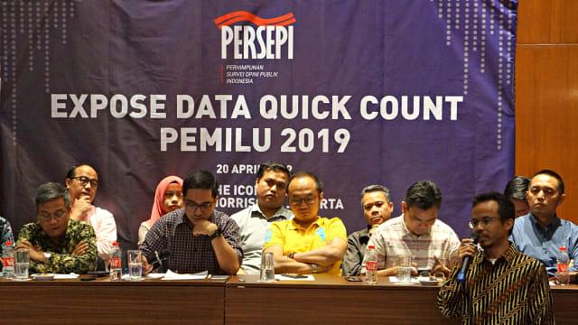 Persepsi, Expose Data Quick Count, Pemilu 2019, Hotel Morrissey
