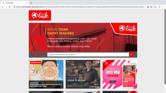 Website Jurdil2019.org tidak bisa diakses dari jaringan Telkomsel pada Sabtu malam, 20 April 2019