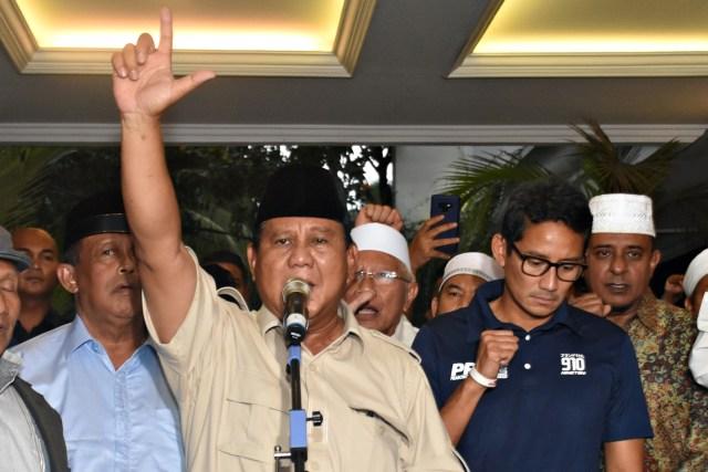 LIPSUS, Gusar Prabowo, Paslon nomor urut 02, Prabowo Sandi, Deklarasi, Kemenangan