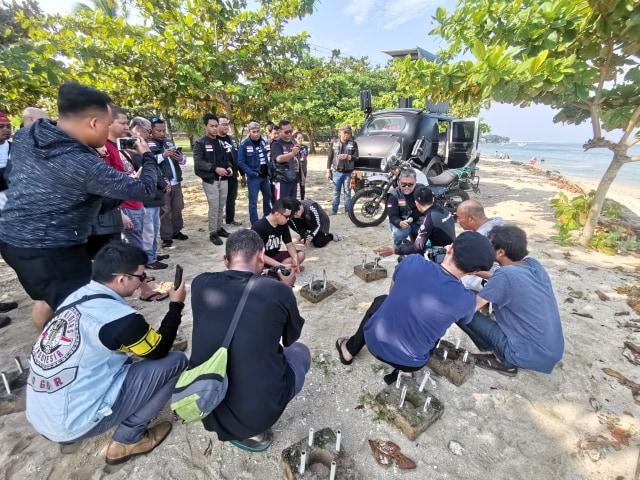 Komunitas Royal Riders Indonesia Tanam Terumbu Karang