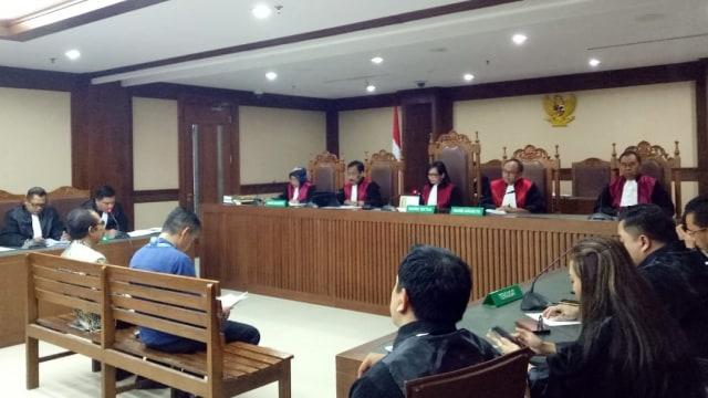 Sidang dakwaan dua hakim PN Jaksel, Iswahyu dan Irwan di Pengadilan Tipikor Jakarta
