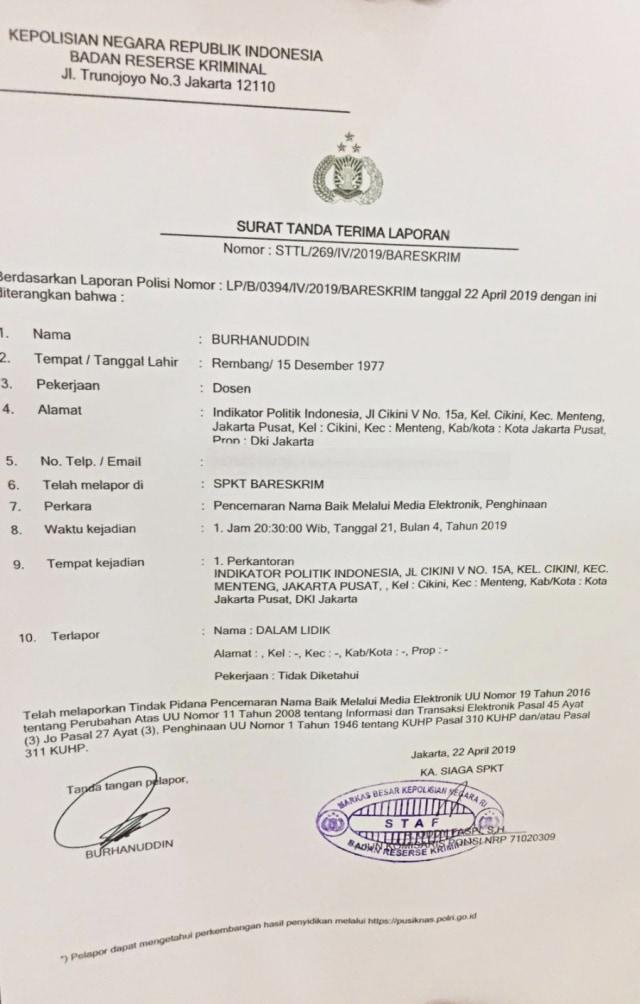 Burhanuddin Muhtadi Laporkan 4 Akun Medsos yang Tuding Surveinya Palsu (143605)