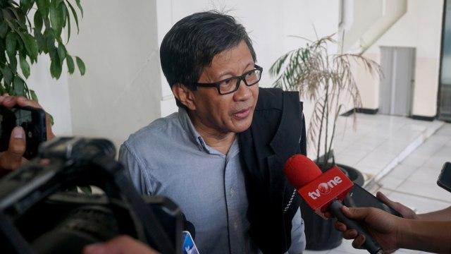 Rocky Gerung, saksi untuk sidang lanjutan Ratna Sarumpaet di PBJ Jakarta Selatan