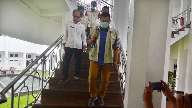 penggeledahan ruang kerja Walikota Tasikmalaya Budi Budiman