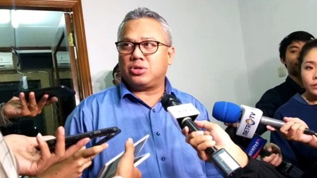 Arief Budiman di Kantor KPU Menteng
