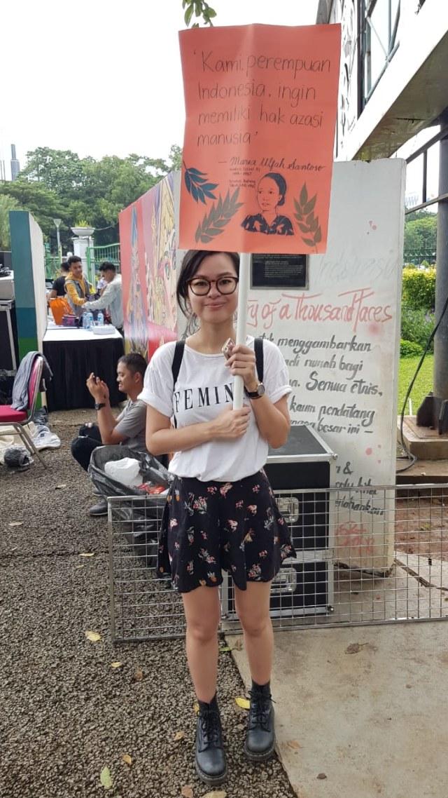 Gustika Jusuf Hatta di Womensmarch Jakarta 2019
