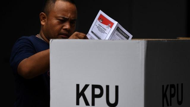 Pemungutan Suara Ulang (PSU) Pemilu 2019 di TPS 02, Pasar Baru, Jakarta