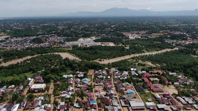 Suasana banjir di Bengkulu