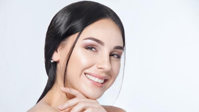 Ilustrasi wajah kulit sehat