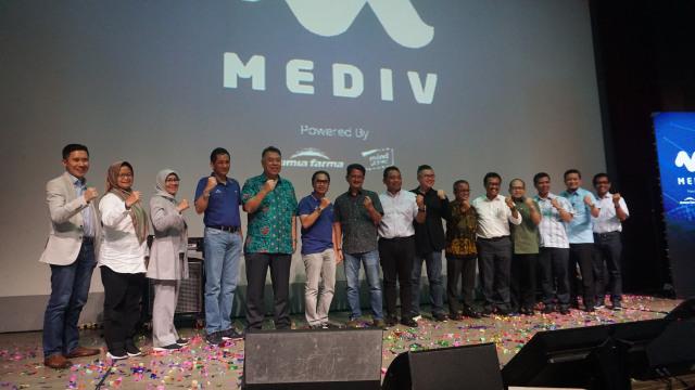 com-Grand Launching Mediv, jajaran direksi Kimia Farma di peluncuran Mediv