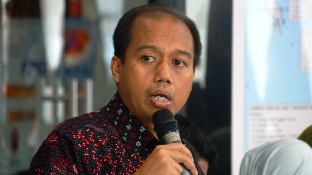 Konferensi pers penanggulangan bencana BNPB