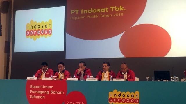 RUPS Tahunan 2019 Indosat Opredoo di Gedung Pusat Indosat, Jakarta, Kamis (2/5)