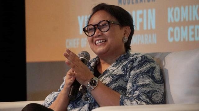 Menteri Luar Negeri, Retno Marsudi di XXI Plaza Indonesia, Inspiring Discussion, Long Shot, Plaza Indonesia XXI, Movie Screening