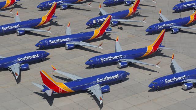Boeing 737 Max milik Southwest Airlines yang dilarang terbang