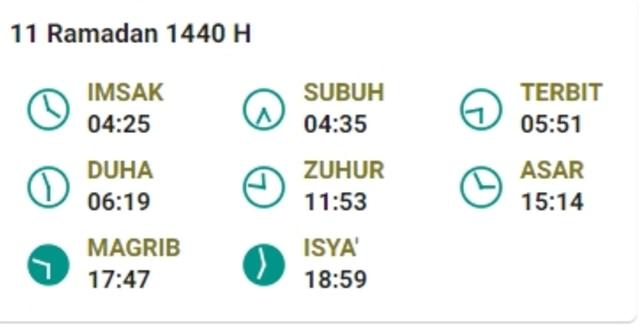 Jadwal Imsak Puasa Ramadhan 2019 Hari Ke-11 (16 Mei 2019) (959764)