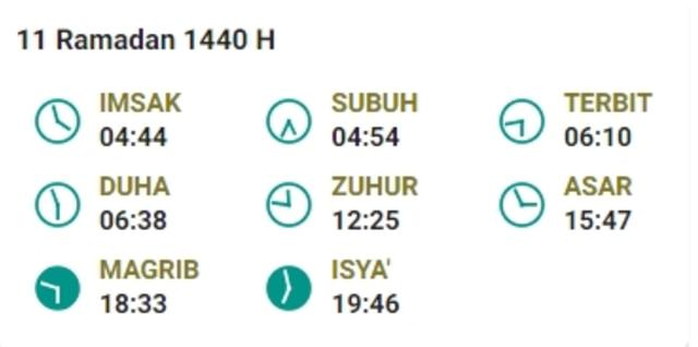 Jadwal Imsak Puasa Ramadhan 2019 Hari Ke-11 (16 Mei 2019) (959767)