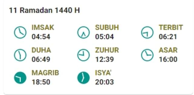 Jadwal Imsak Puasa Ramadhan 2019 Hari Ke-11 (16 Mei 2019) (959768)