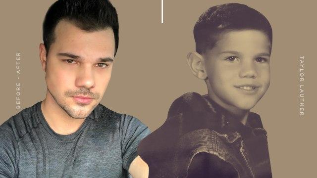 Taylor Lautner dulu dan sekarang.