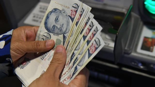 Ilustrasi uang dolar Singapura