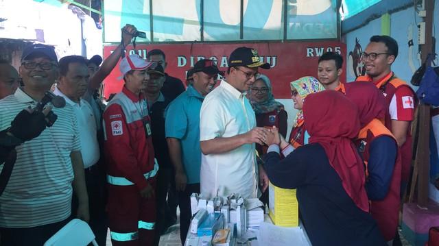 Anies Tinjau Langsung Lokasi Kebakaran di Kampung Bandan, Jakut (279625)