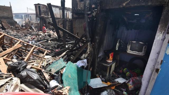 Pasca kebakaran permukiman di Kampung Bandan