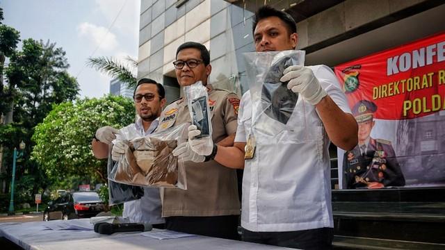 Konpers kasus video pengancaman pembunuhan Presiden Joko Widodo, Polda Metro Jaya.