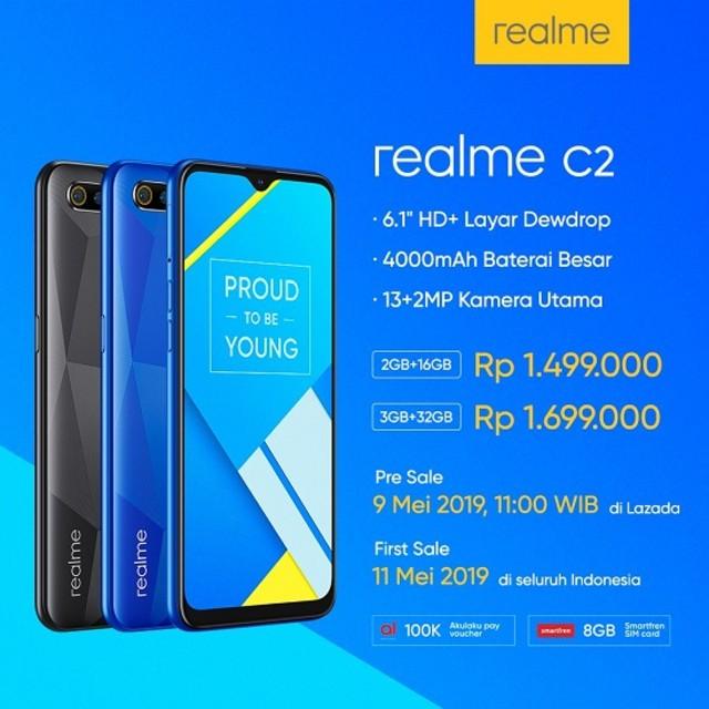 Resmi Hadir di Indonesia, Realme C2 Dijual Rp 1 Jutaan (29161)