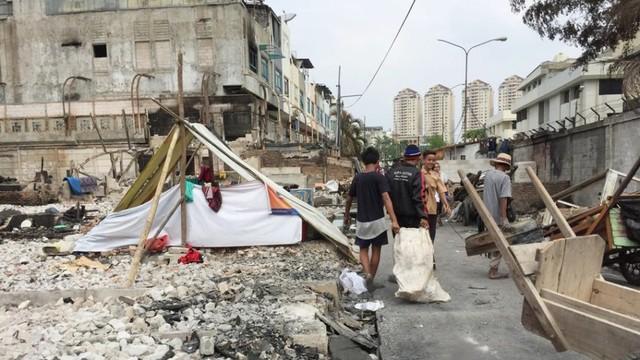 Korban kebakaran di Permukiman Kampung Bandan