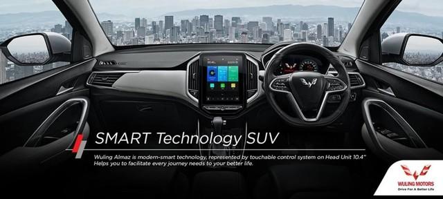com-SMART Technology SUV dalam Wuling Almaz.