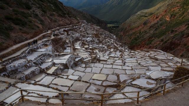 Terasering garam, Salinas de Maras, Peru